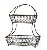 Mikasa Gourmet Basics 2 Tier Flatback Basket Loop Lattice Wire