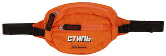Heron Preston Orange Mini Style Fanny Pack Pouch