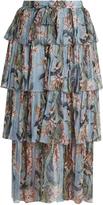 Zimmermann Winsome floral-print silk-georgette skirt