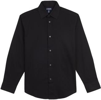 Chaps Boys 8-20 Husky Herringbone Button-Down Shirt