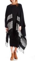 Sole Society Women's Stripe Poncho