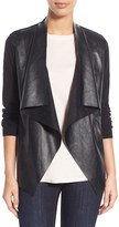 MICHAEL Michael Kors Women's Faux Leather & Knit Cardigan