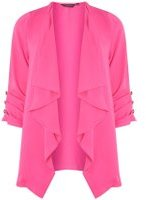Dorothy Perkins Womens Pink Waterfall Button Jacket- Pink