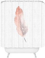 Deny Designs Wonder Forest Freedom Feather Shower Curtain