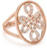 "Freida Rothman Blush"" Collection Love Knot Signet Ring, Size 7"