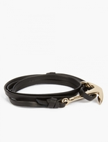 Miansai Black Leather and Gold-Plated Anchor Bracelet