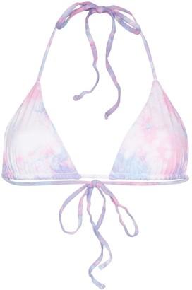Frankie's Bikinis Tasha tie-dye bikini top
