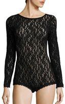Hanky Panky Ariel Lace Long Sleeve Bodysuit