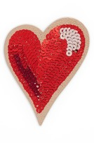 Kate Spade Ashe Place Sequin Heart Permanent Sticker - Red