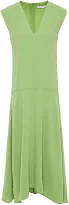 Tibi Flared Crepe Midi Dress