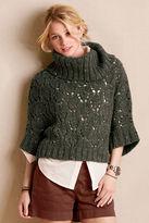 Lands' End Canvas Women's Dolman Open Cowlneck Sweater