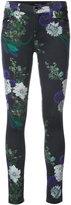 J Brand floral stretch skinny jeans