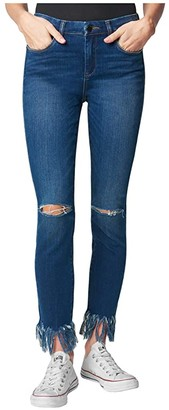 Blank NYC Denim Skinny with Fringe Hem Detail in Over Packed (Over Packed) Women's Jeans