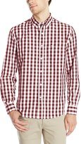 Dockers Long Sleeve No Wrinkle Signature Gingham Button Down Collar Spade Pocket Shirt