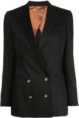 Maurizio Miri Embellished Double-Breasted Blazer