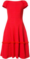 Talbot Runhof frayed trim dress - women - Cotton/Spandex/Elastane/Polyimide - 36