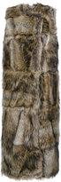 Stella McCartney faux fur sleeveless coat - women - Cotton/Modacrylic/Polyester/Viscose - 38