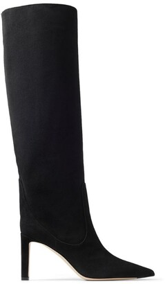 Jimmy Choo Mavis 85 Suede Knee-High Boots