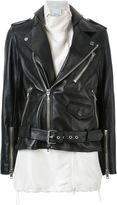 3.1 Phillip Lim contrasting gilet biker jacket