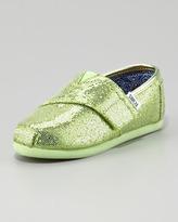 Toms Mint Green Glitter Shoe, Tiny