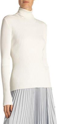 Proenza Schouler Lightweight Ribbed Turtleneck Sweater