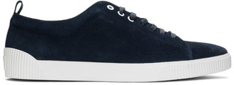 HUGO BOSS Navy Suede Zero Tennis Sneakers