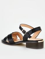 Office Measure Flat Sandal - Black