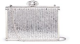 Judith Leiber 'Herringbone Tall Slender Rectangle' crystal pavé box clutch