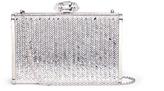Judith Leiber 'Herringbone Tall Slender Rectangle' crystal pavé box clutch