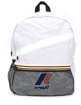 K Way Kids Colour-Block Logo Patch Backpack