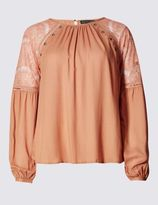 Marks and Spencer Pure Modal Lace Insert Shell Top