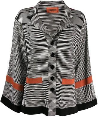 Missoni Button Down Intarsia Knit Cardi-Coat