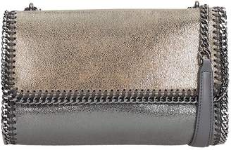 Stella McCartney Falabella Shoulder Bag In Grey Faux Leather
