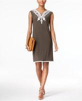 Alfani Petite Soutache Sheath Dress, Created for Macy's
