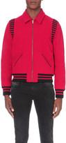 Saint Laurent Striped wool-blend teddy jacket