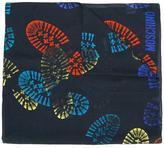 Moschino boot print scarf