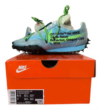 Nike x Off-White Waffle Racer Blue Polyester Trainers