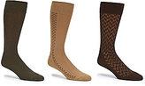 Roundtree & Yorke Gold Label 3-Pack Pattern Crew Socks