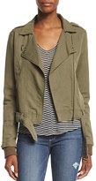 Paige Marjorie Zip-Front Belted Jacket, Desert Olive