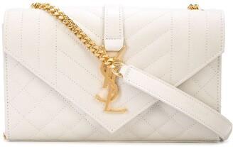 Saint Laurent Small Leather Envelope Bag