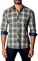 Jared Lang Cotton Check Print Sportshirt