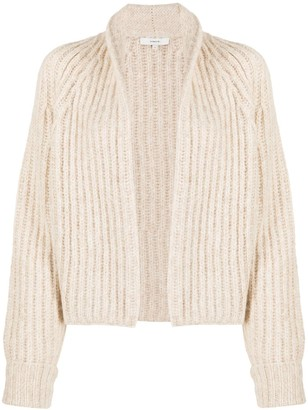 Vince Ribbed Knit Open Front Cardigan