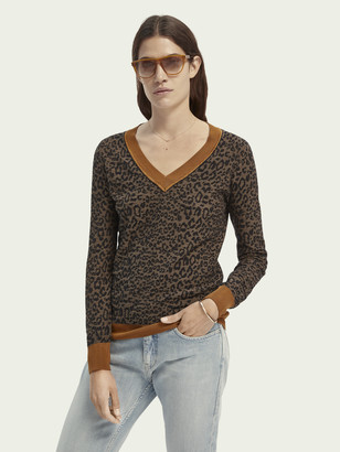 Scotch & Soda Long sleeve wool-cotton blend knit   Women