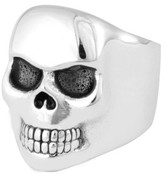 King Baby Studio Men's Classic Skull Ring