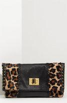 'Medium' Leopard Print Foldover Clutch