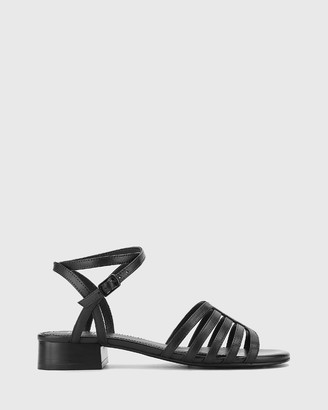 Wittner - Women's Black Strappy sandals - Bastille Leather Open Toe Flat Sandals - Size One Size, 37 at The Iconic