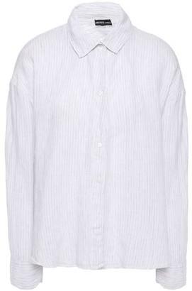 James Perse Striped Linen Shirt