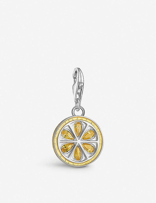 Thomas Sabo Charm Club Lemon yellow gold-plated sterling silver and cubic zirconia charm