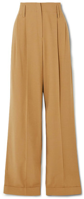Michael Kors Collection Pleated Wool Straight-leg Pants