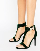 Forever Unique Marchella T-Bar Heeled Sandal